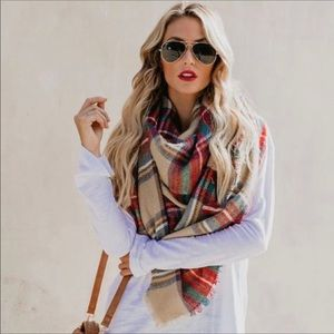 4 for $25 🍁Plaid Blanket Scarf